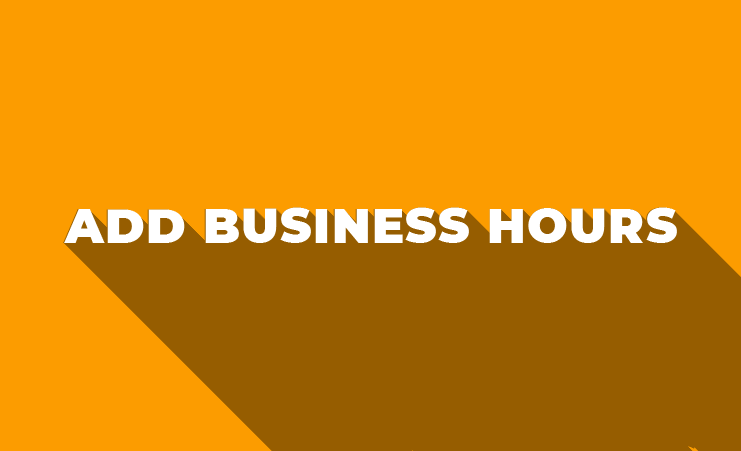 How To Add Business Hours